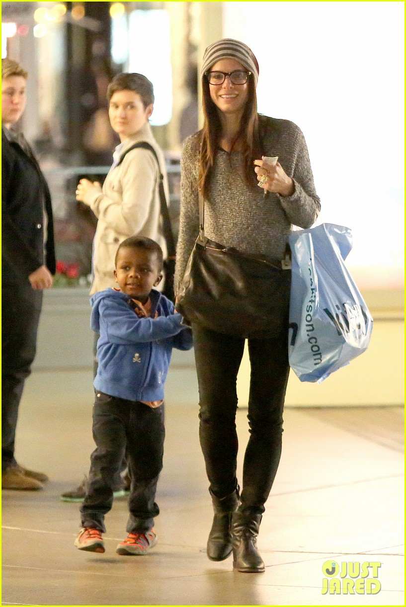 Sandra Bullock Takes Louis To See 'The Lego Movie'!: Photo ...
