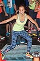 jamie chung flexes her muscles while testing reebok shoes 20