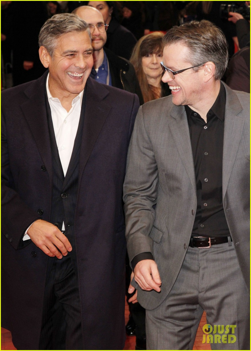 george clooney matt damon premiere monuments men at berlinale festival 09
