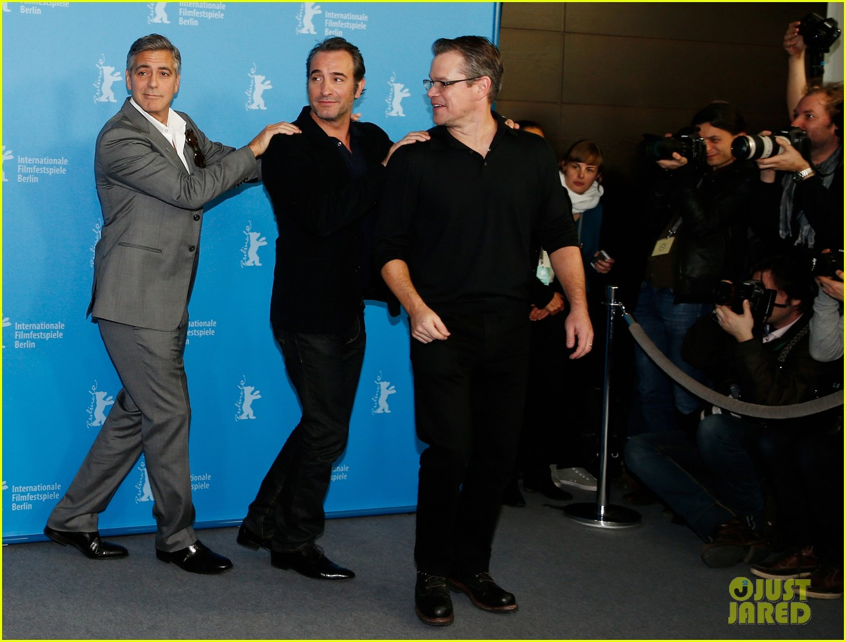george clooney monuments men cast do the conga 06