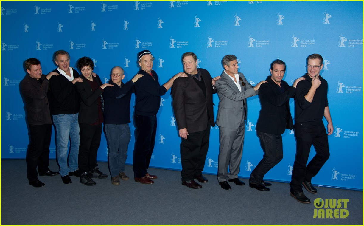 george clooney monuments men cast do the conga 153049620