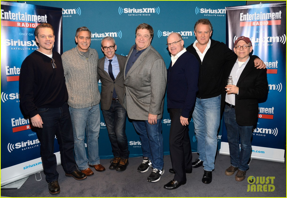 george clooney matt damon continue promoting monuments men 033048659