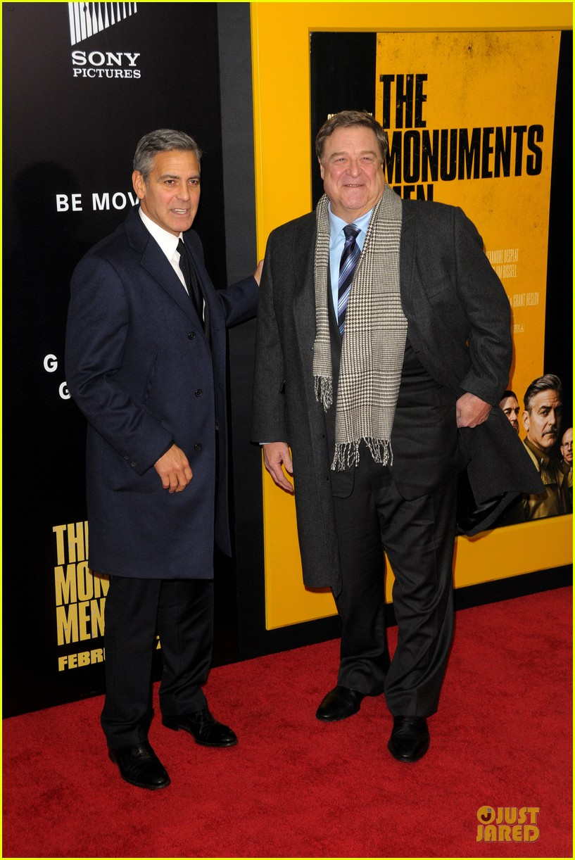 george clooney monuments men nyc premiere 01