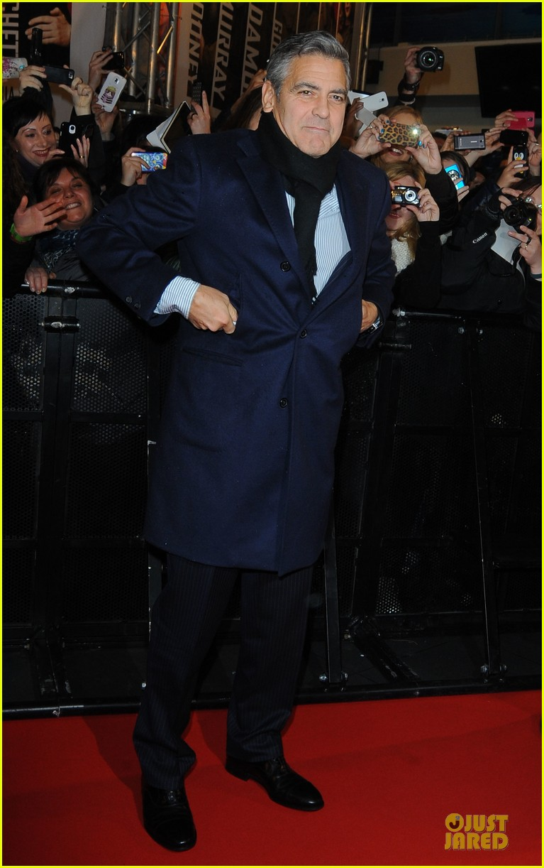 george clooney matt damon monuments men milan premiere 01