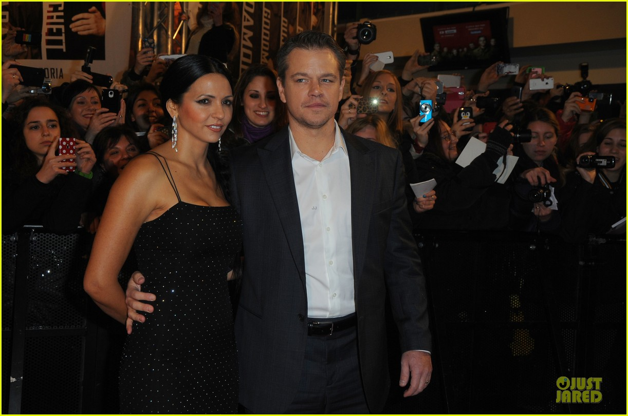 george clooney matt damon monuments men milan premiere 123050874