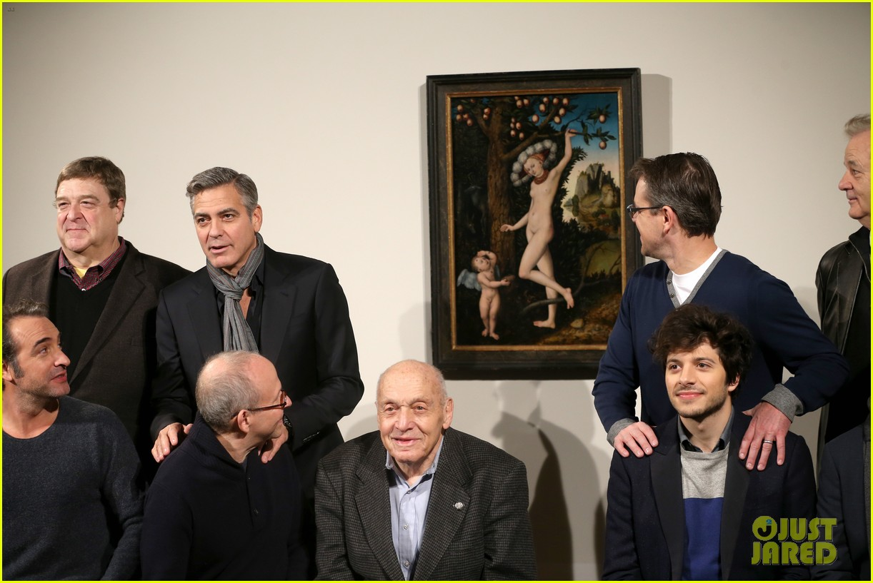george clooney matt damon monuments men national gallery photo call 06