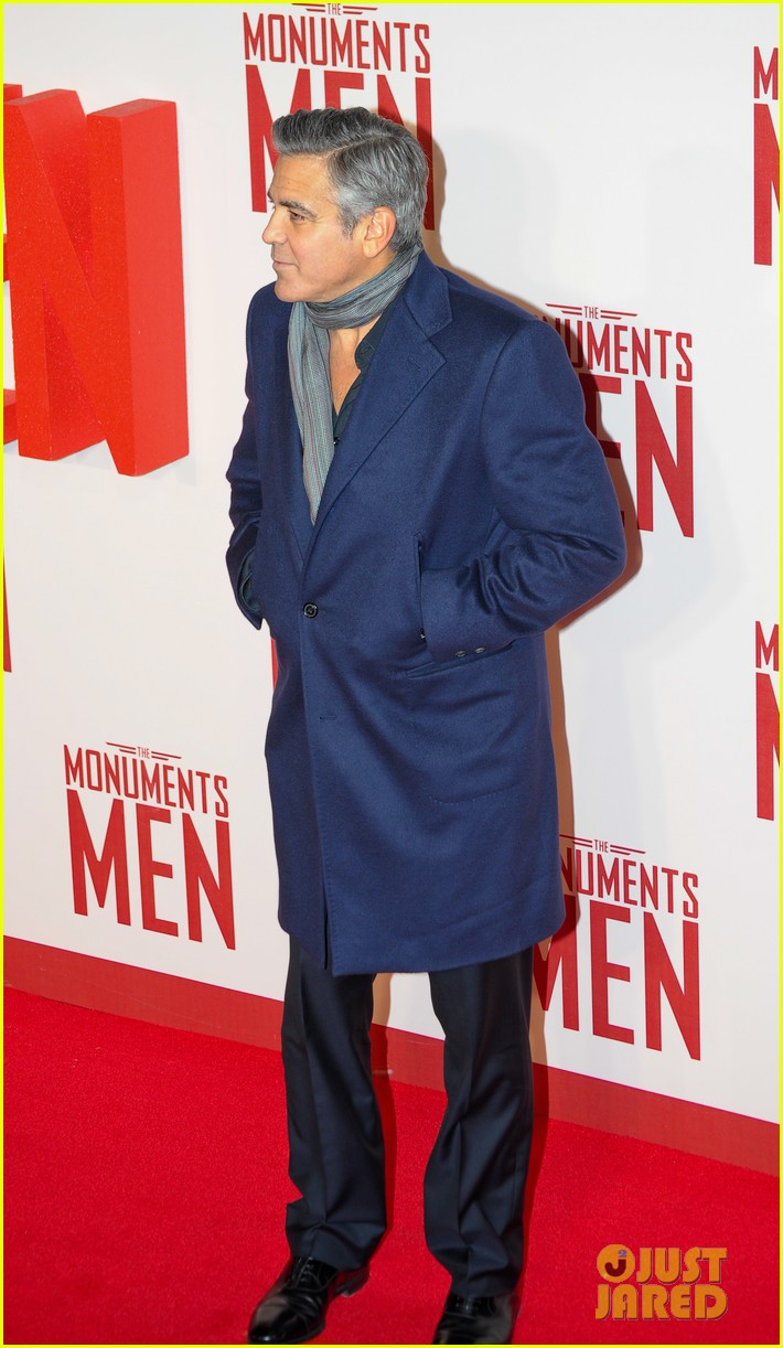 george clooney matt damon continue monuments men tour with uk premiere 01