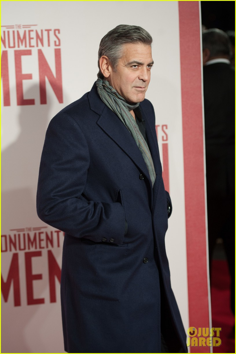 george clooney matt damon continue monuments men tour with uk premiere 09