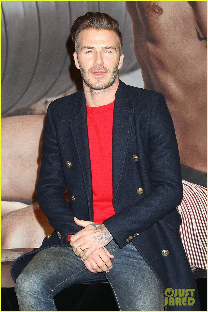 david beckham promotes hm body wear collection nyc 073045543