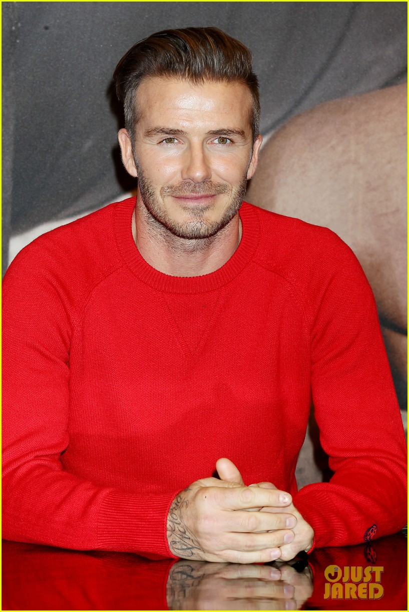 david beckham promotes hm body wear collection nyc 323045568