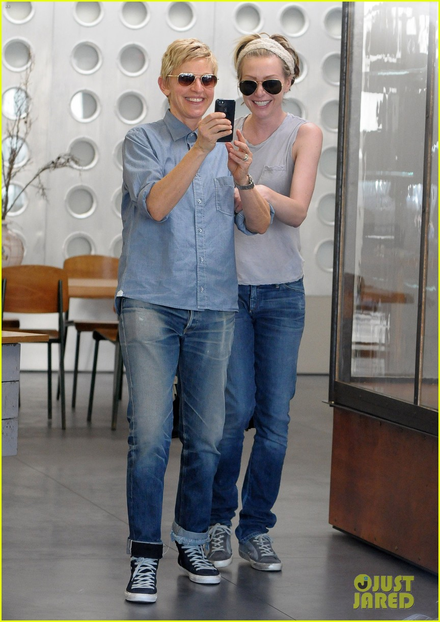 ellen degeneres portia de rossi were the cutest couple on valentines day 01