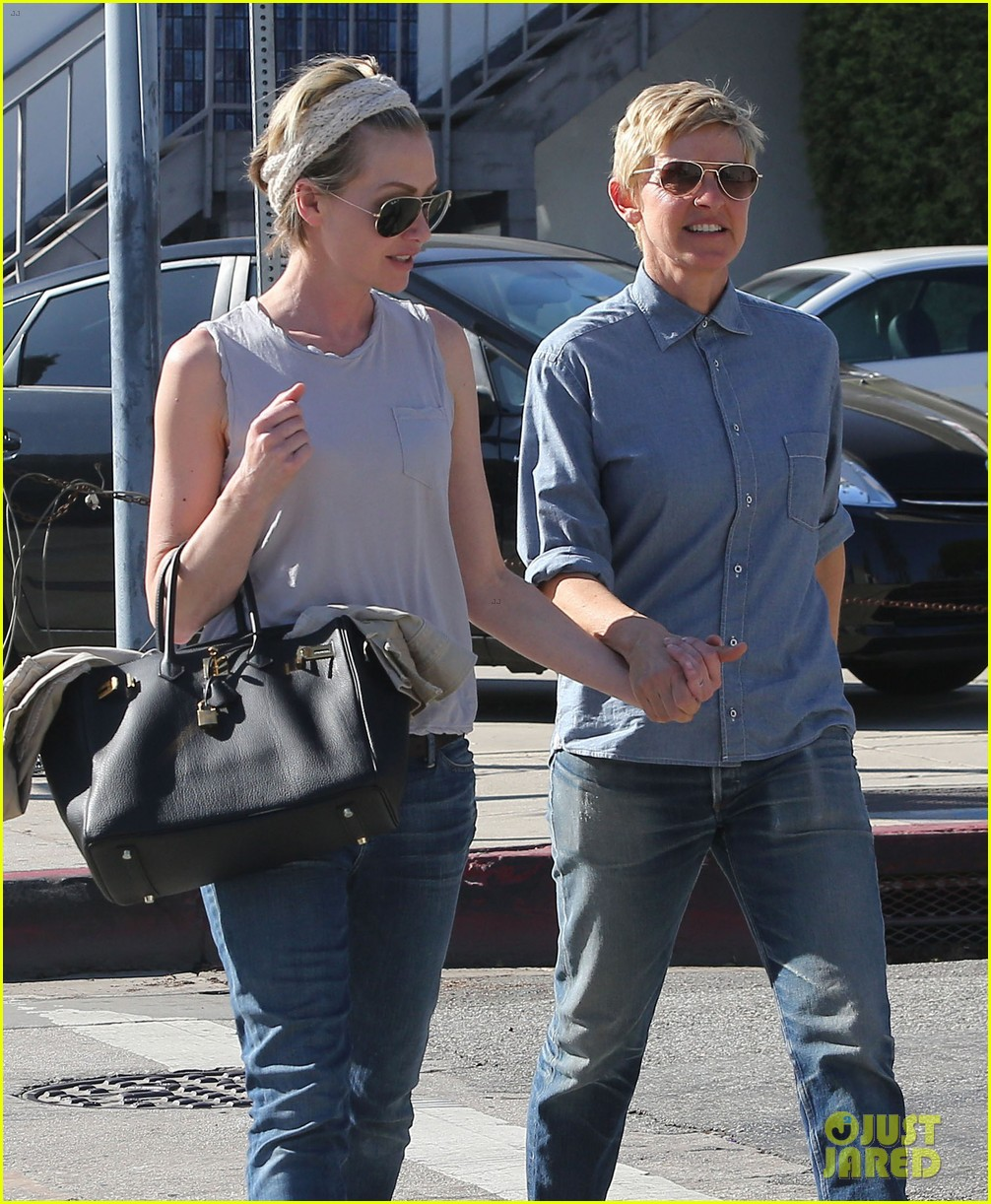 ellen degeneres portia de rossi were the cutest couple on valentines day 103054325