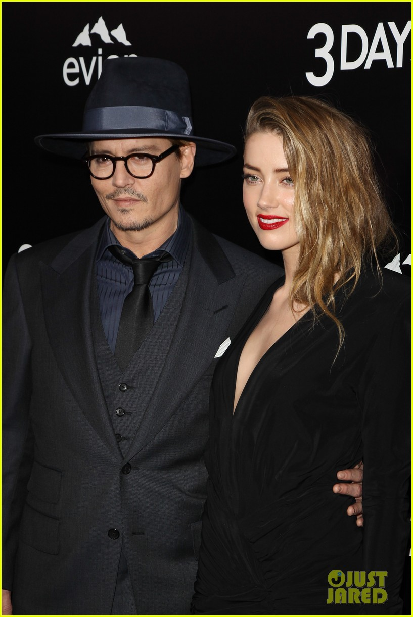 johnny depp supports amber heard at 3 days to kill premiere 04