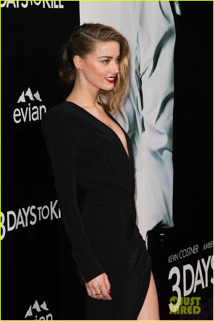 johnny depp supports amber heard at 3 days to kill premiere 06