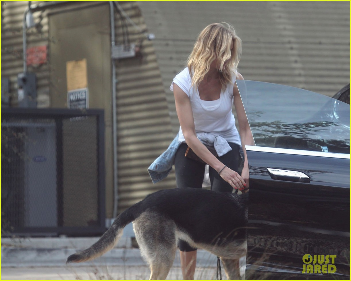 cameron diaz nicole richie walk their dogs together 12