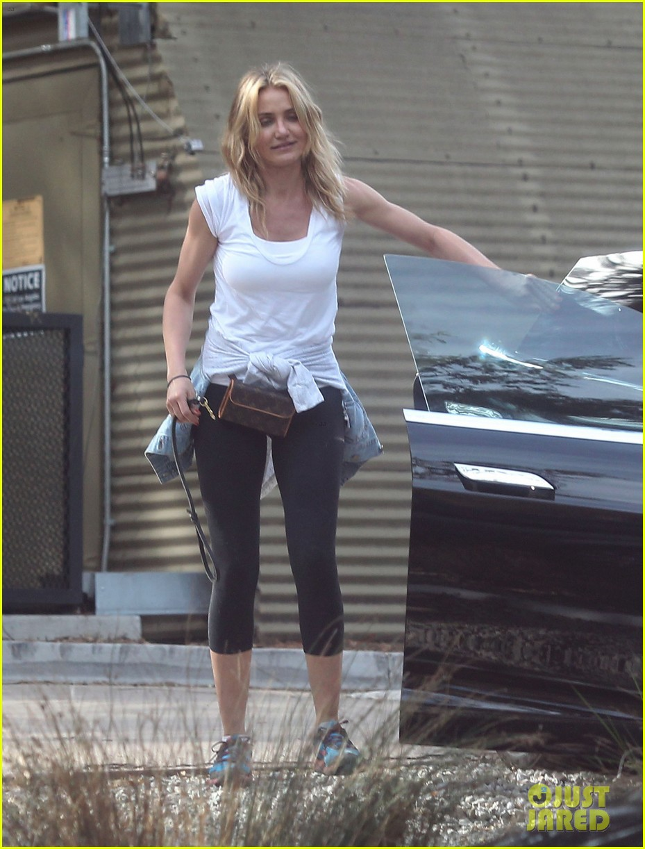 cameron diaz nicole richie walk their dogs together 14