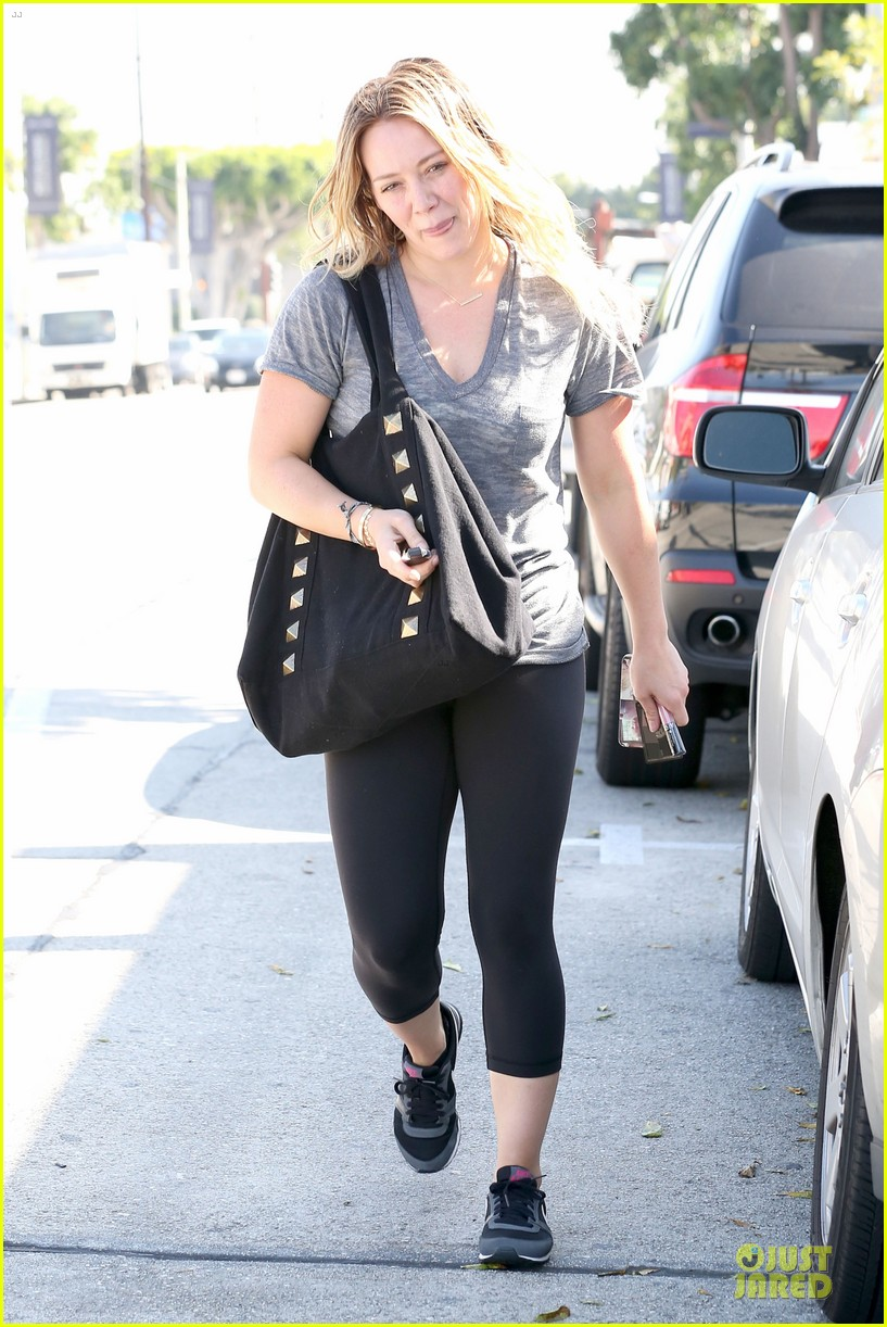 hilary duff fitness first following nyc trip 123055951