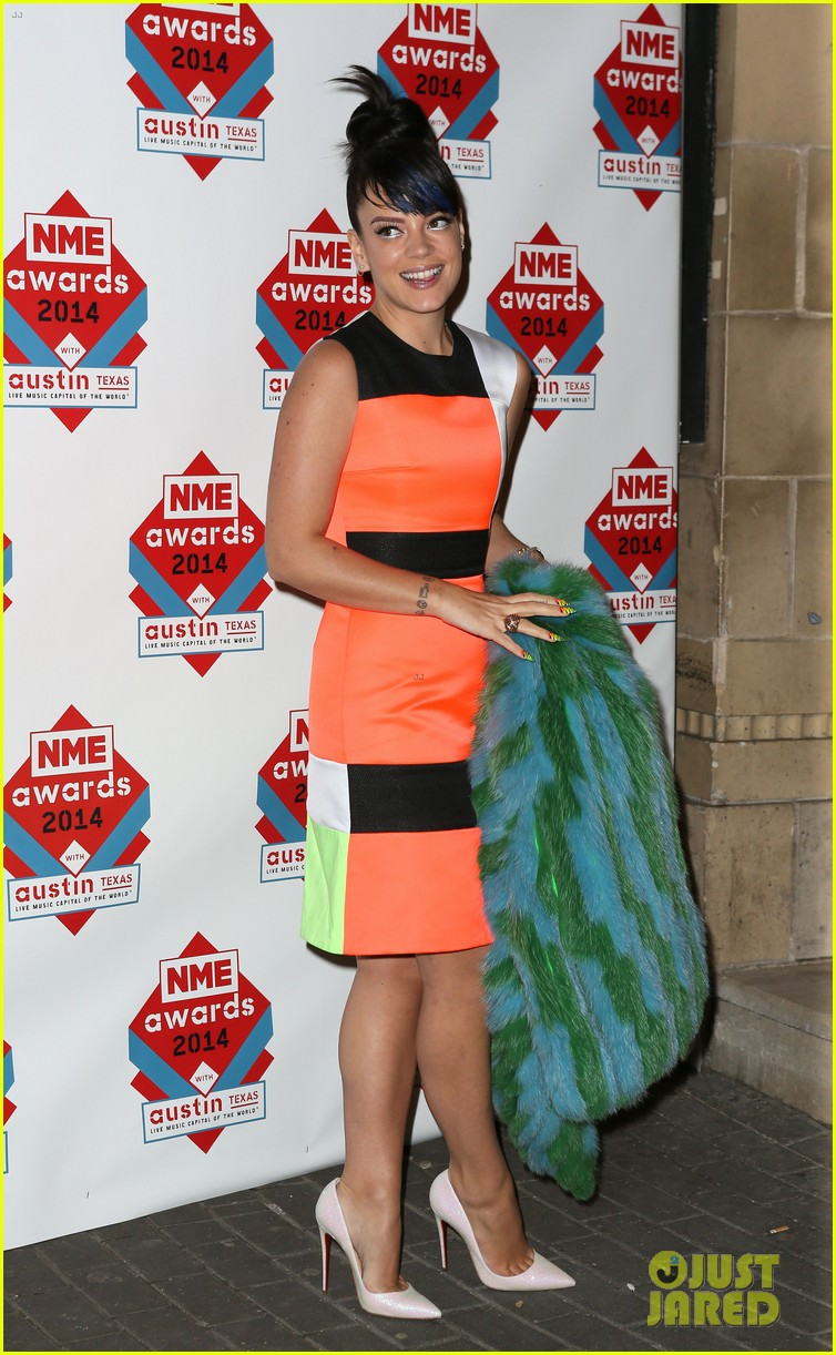 luke evans lily allen nme awards 2014 09