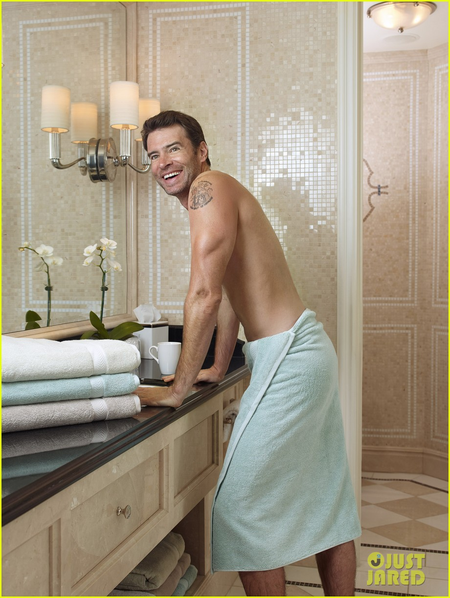 scott foley is super hunky goes shirtless in a towel for charisma 053060328