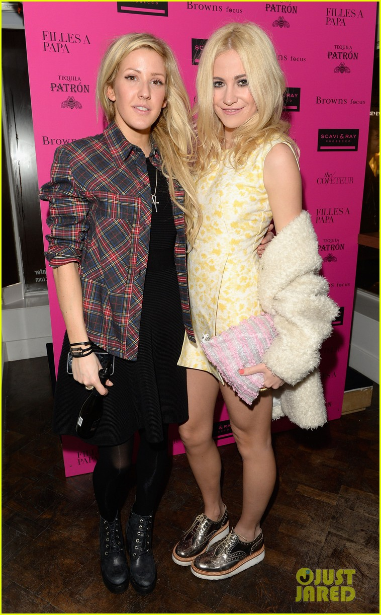 ellie goulding london fashion week party with pixie lott 033055499