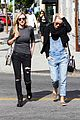 julianne hough sports denim overalls for newsroom brunch 01
