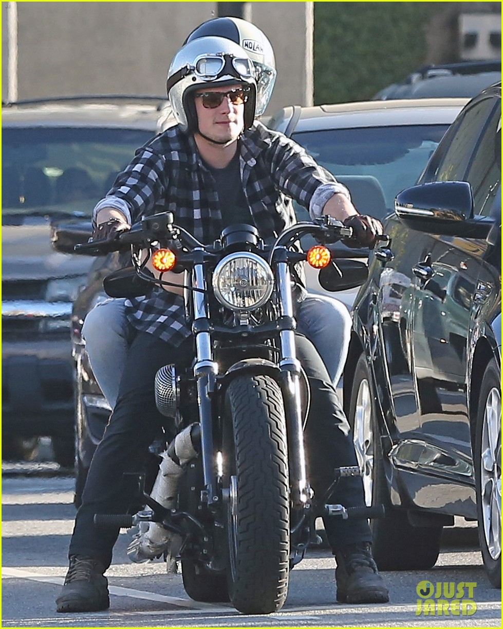 josh hutcherson goes for a motorcycle ride with a gal pal 10