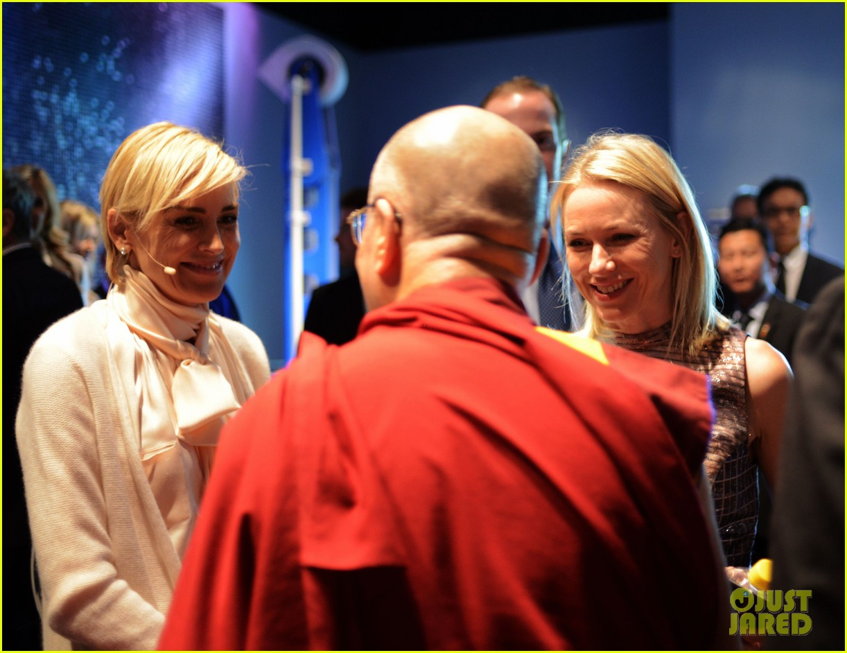 naomi watts anna kendrick dalai lama event with sharon stone 06