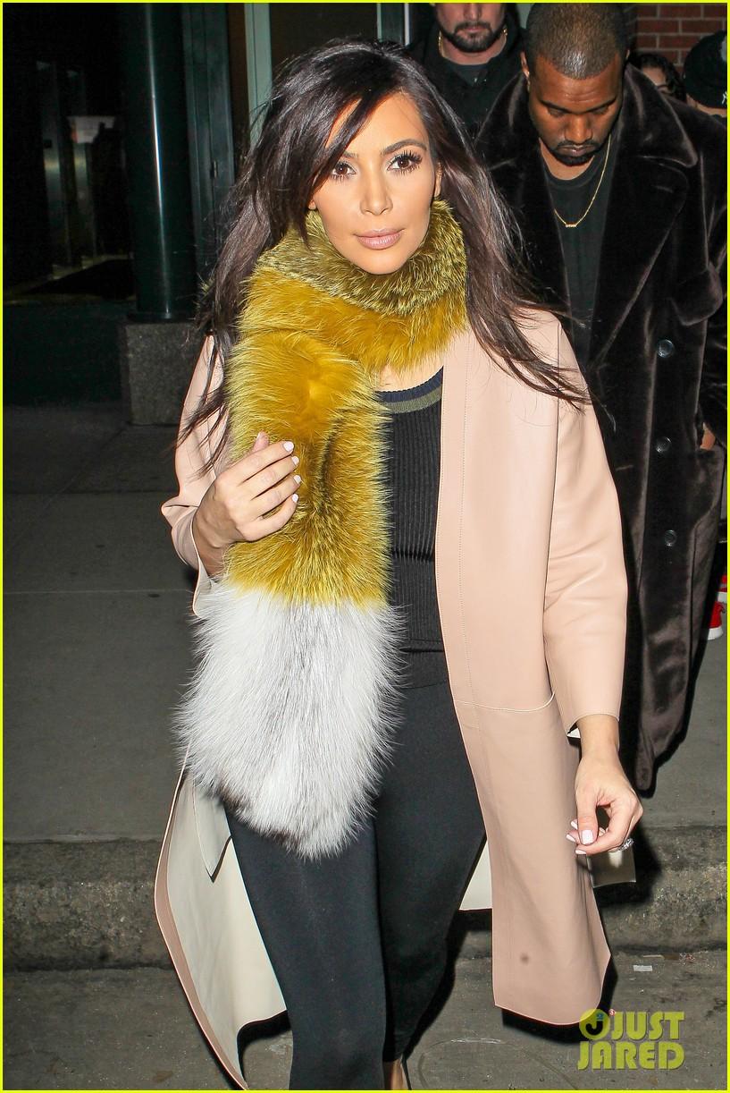kim kardashian kanye west step out before new kuwtk episode 02