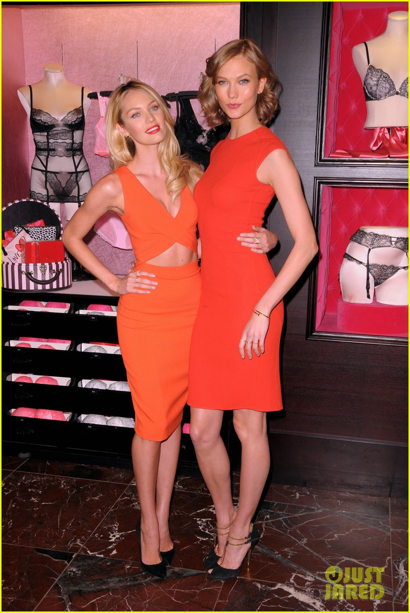 karlie kloss candice swanepoel celebrate victorias secret bombshell day 08