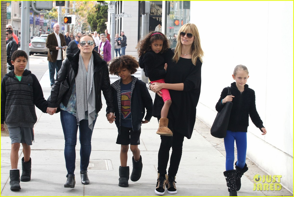 heidi klum sunday lunch with the kids 03