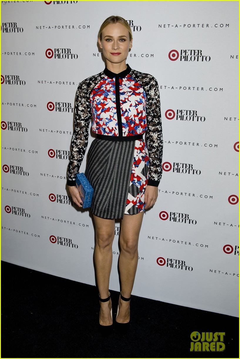diane kruger rocks floral print at peter pilotto for target event 013048822