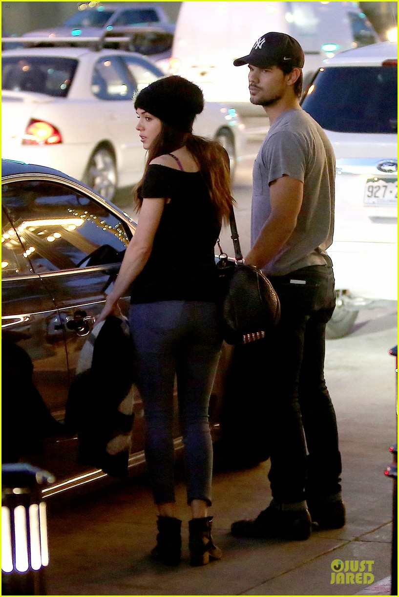 taylor lautner marie avgeropoulos hold hands for dinner 07