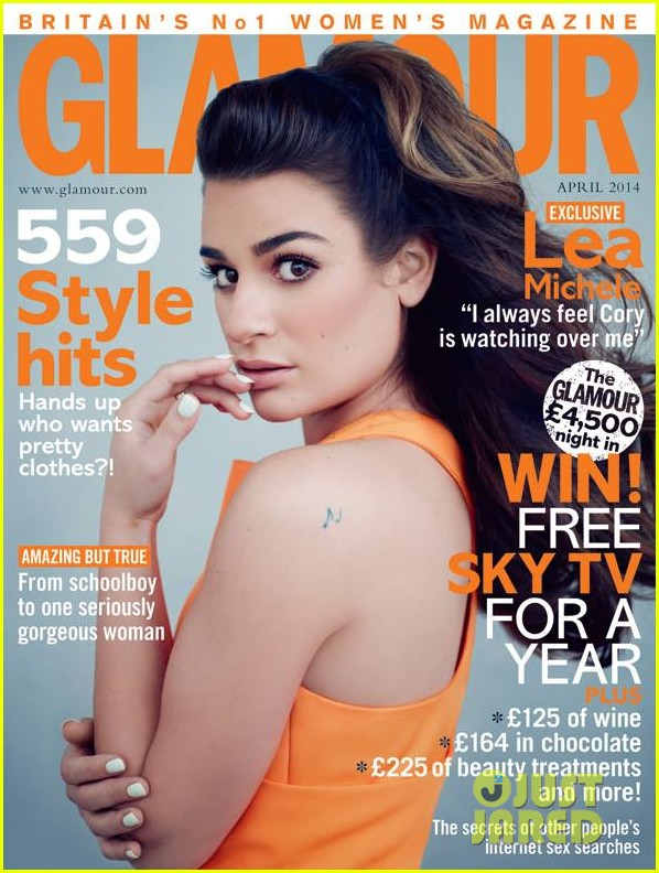 lea michele covers glamour uk april 2014 013062373