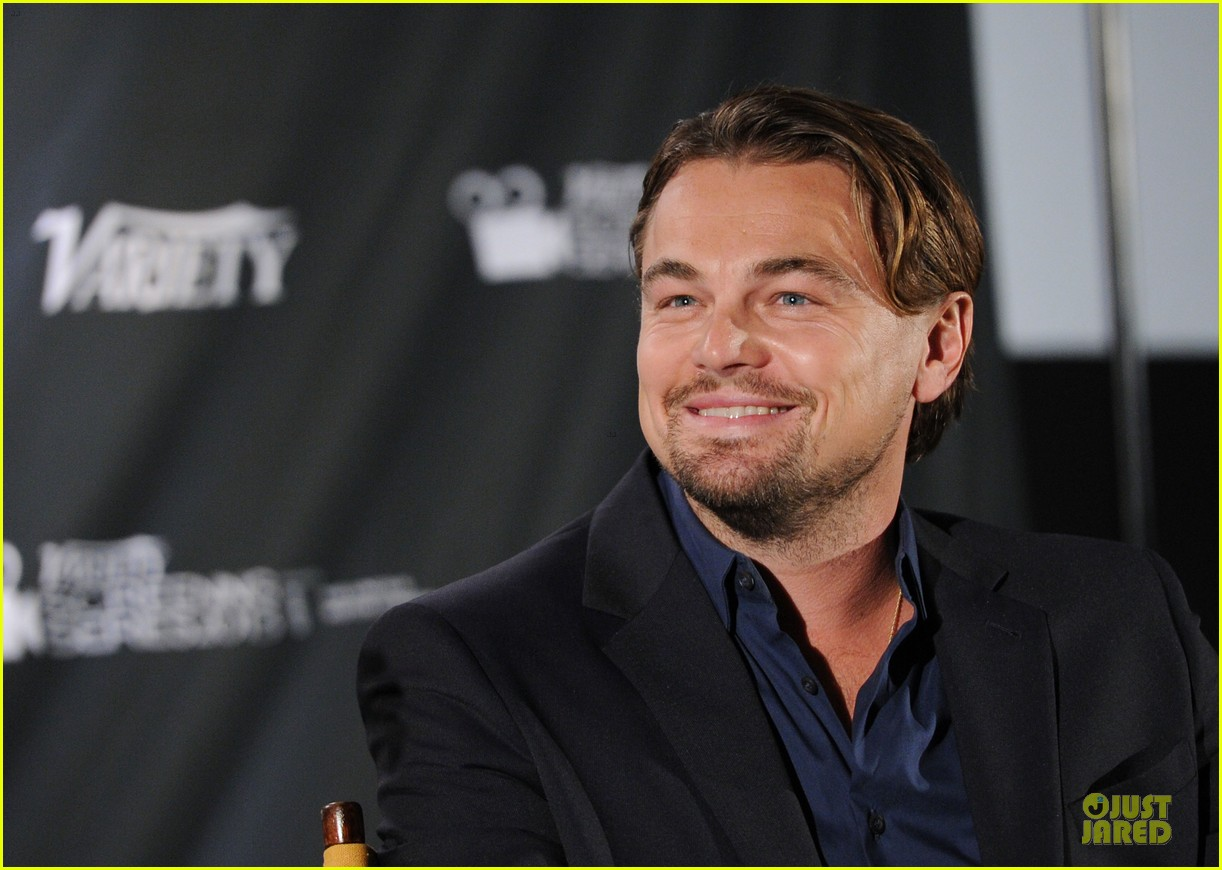 leonardo dicaprio promotes wolf of wall street at variety screening 093047722