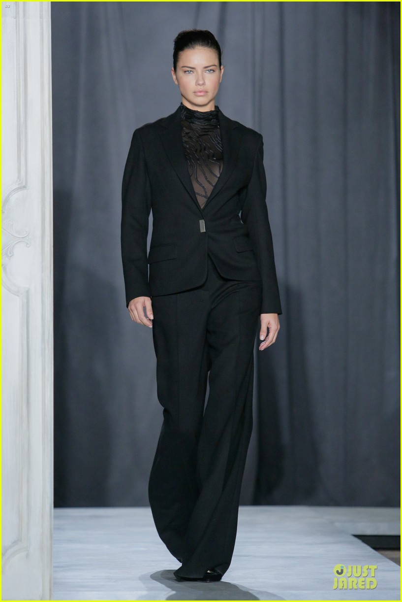 adriana lima models suit at jason wu fashion show 033049440