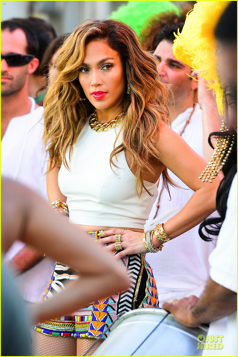 jennifer lopez shoots vibrant world cup music video 133051556