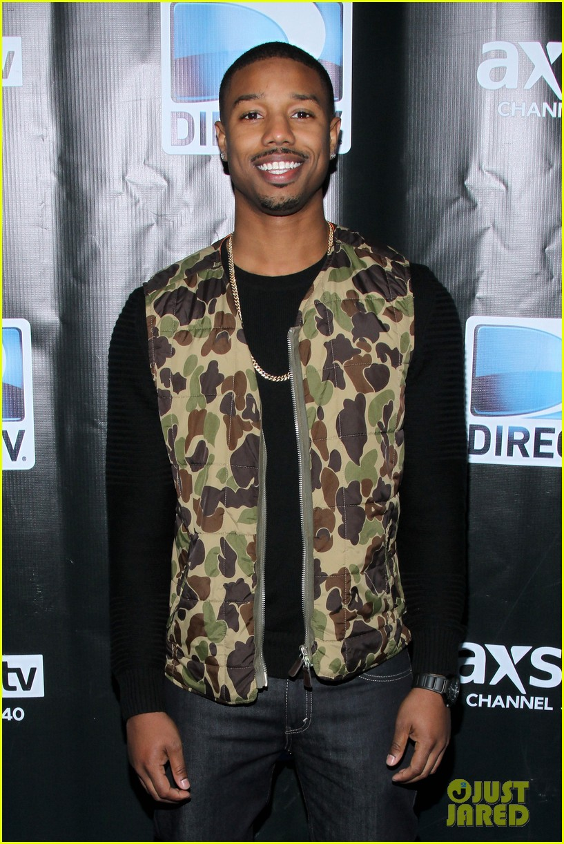michael b jordan shay mitchell directvs super bowl party 11