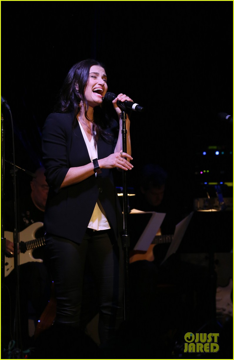 idina menzel performs songs from if then at free concert
