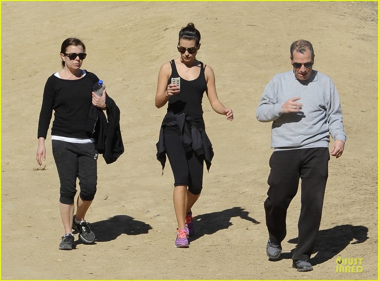 lea michele starts the week right with a family hike 06