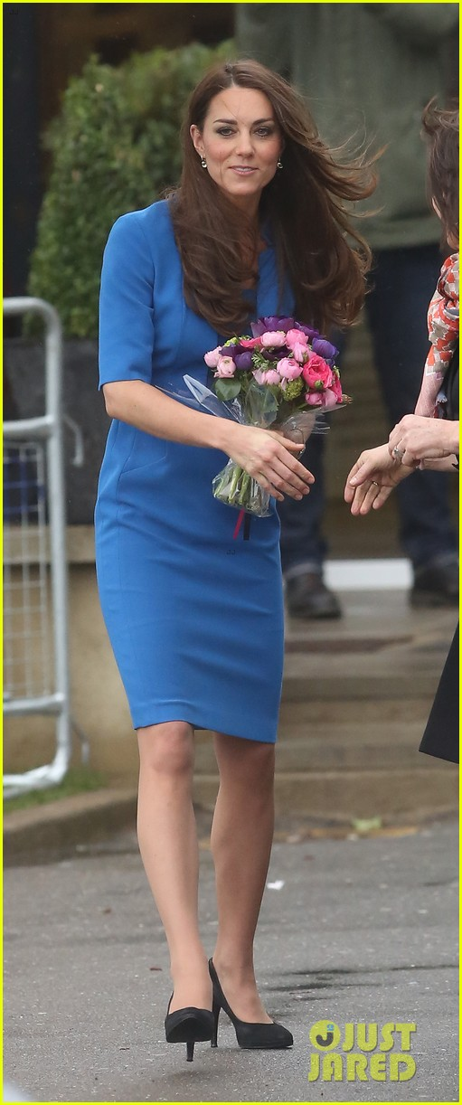 kate middleton opens the icap art room on valentines day 103053296