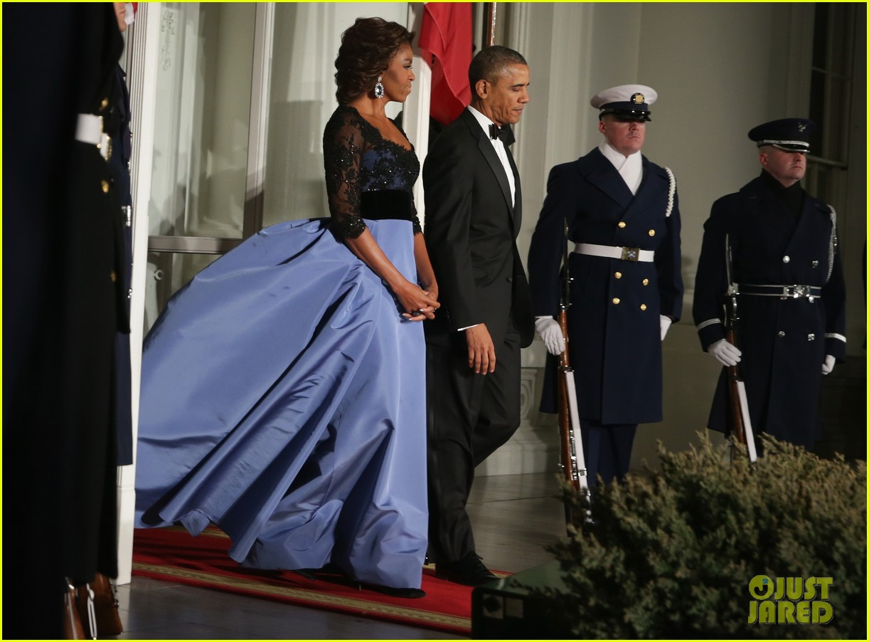 barack michelle obama white house state dinner 033051802