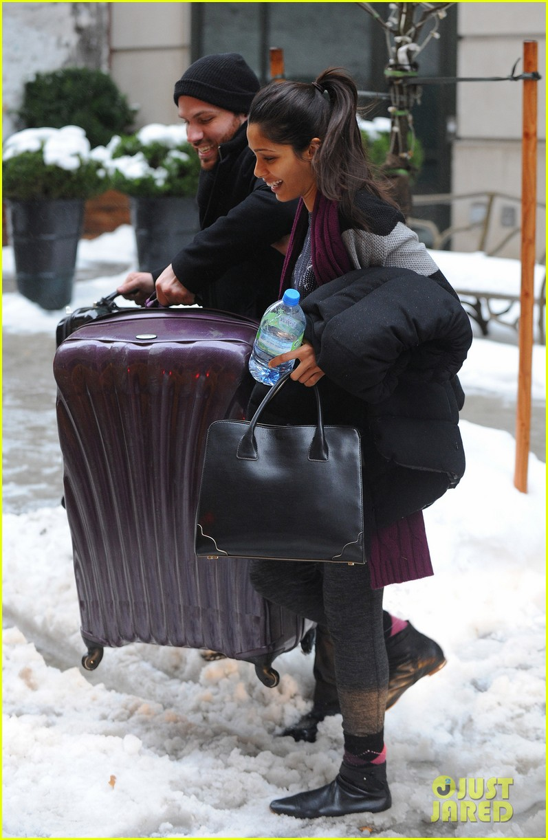 freida pinto laughs off giant snow slush piles in nyc 083053345