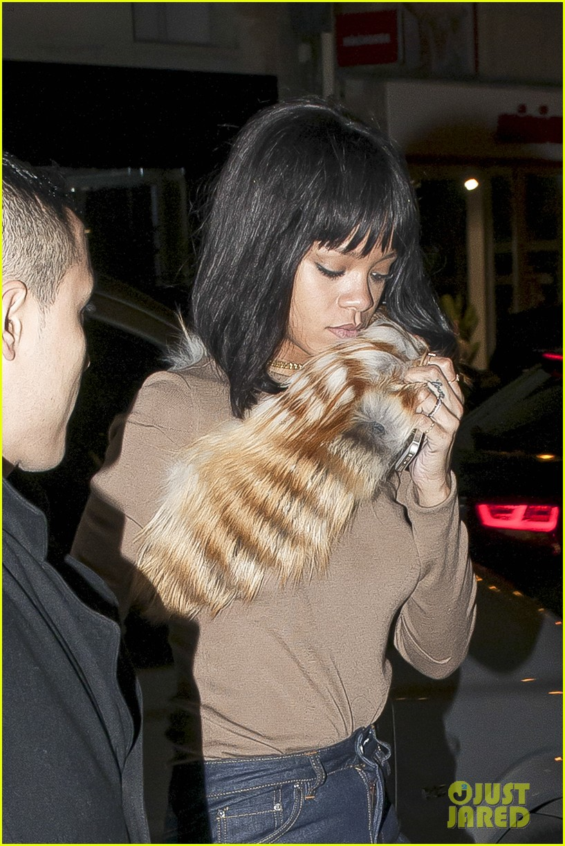 rihanna paris dinner at lavenue 023059489