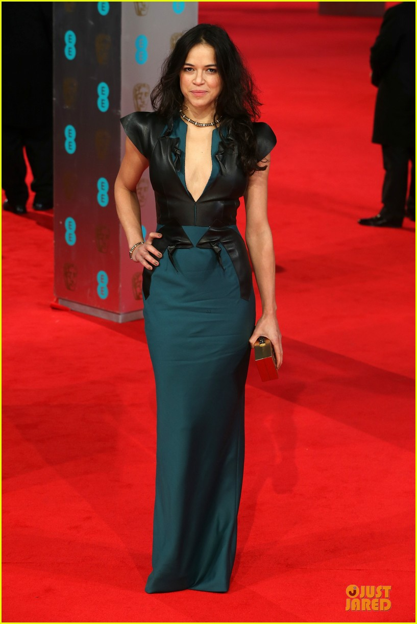 michelle rodriguez baftas 2014 red carpet 013054573