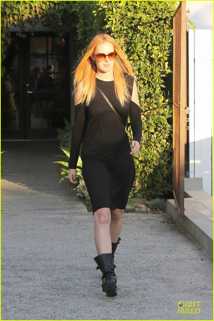 rumer willis rocks lighter hair at andy lecompte salon 063053517