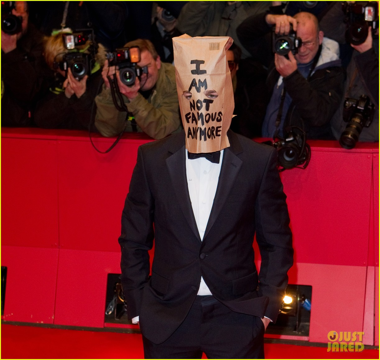shia labeouf wears paper bag over his head for nymphomaniac berlin premiere 03