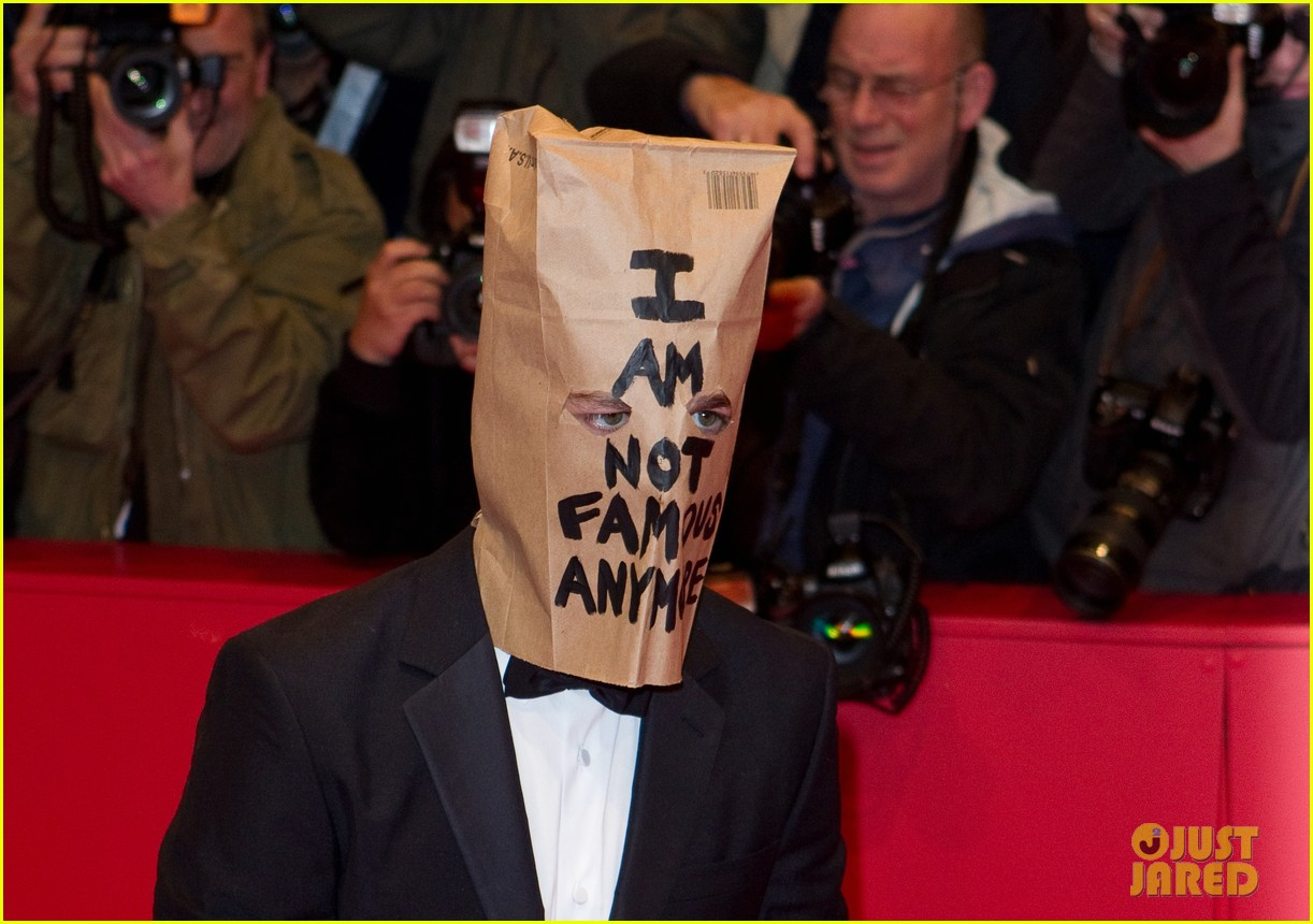 shia labeouf wears paper bag over his head for nymphomaniac berlin premiere 103050238