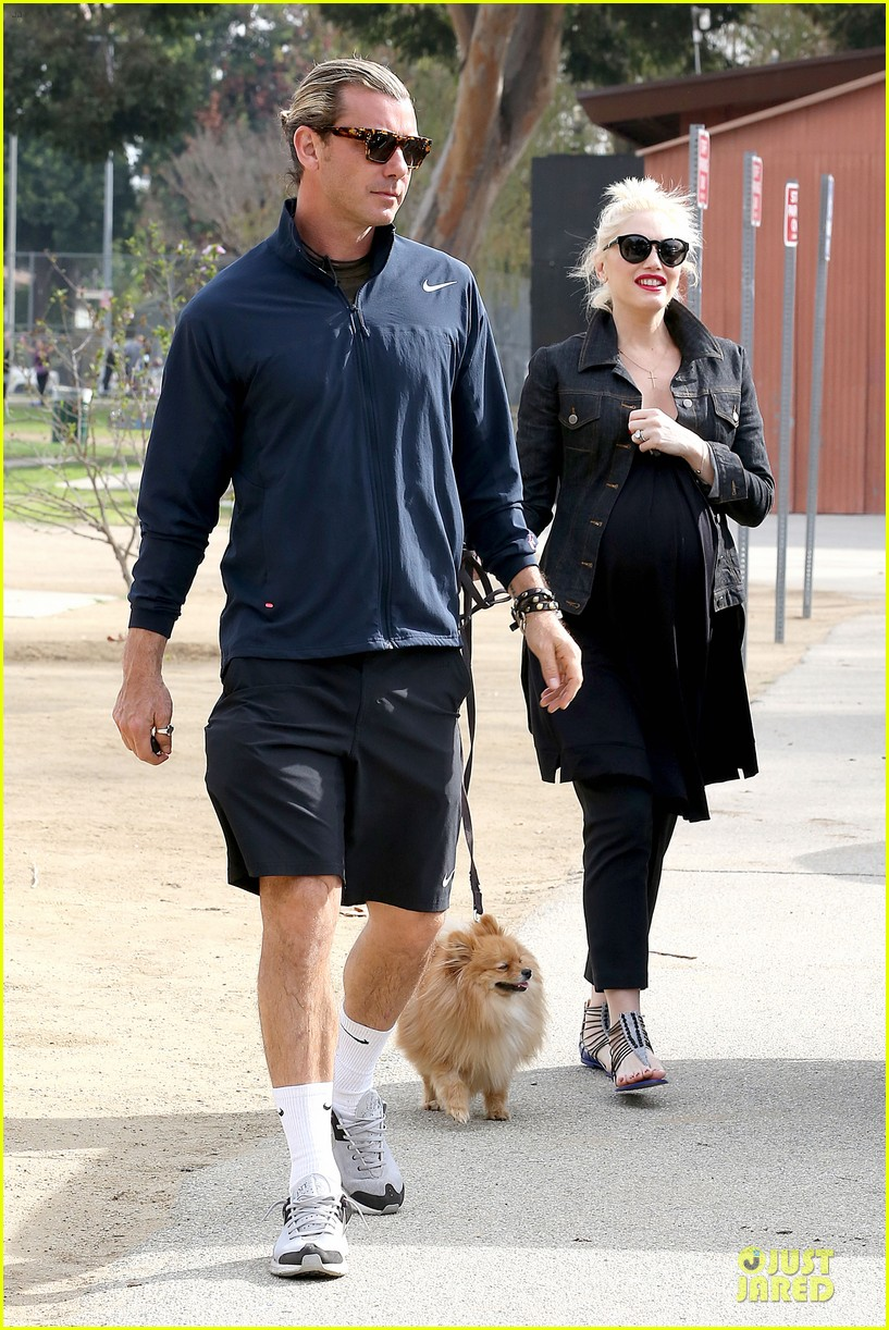 gwen stefani looks about ready to pop in brentwood 13