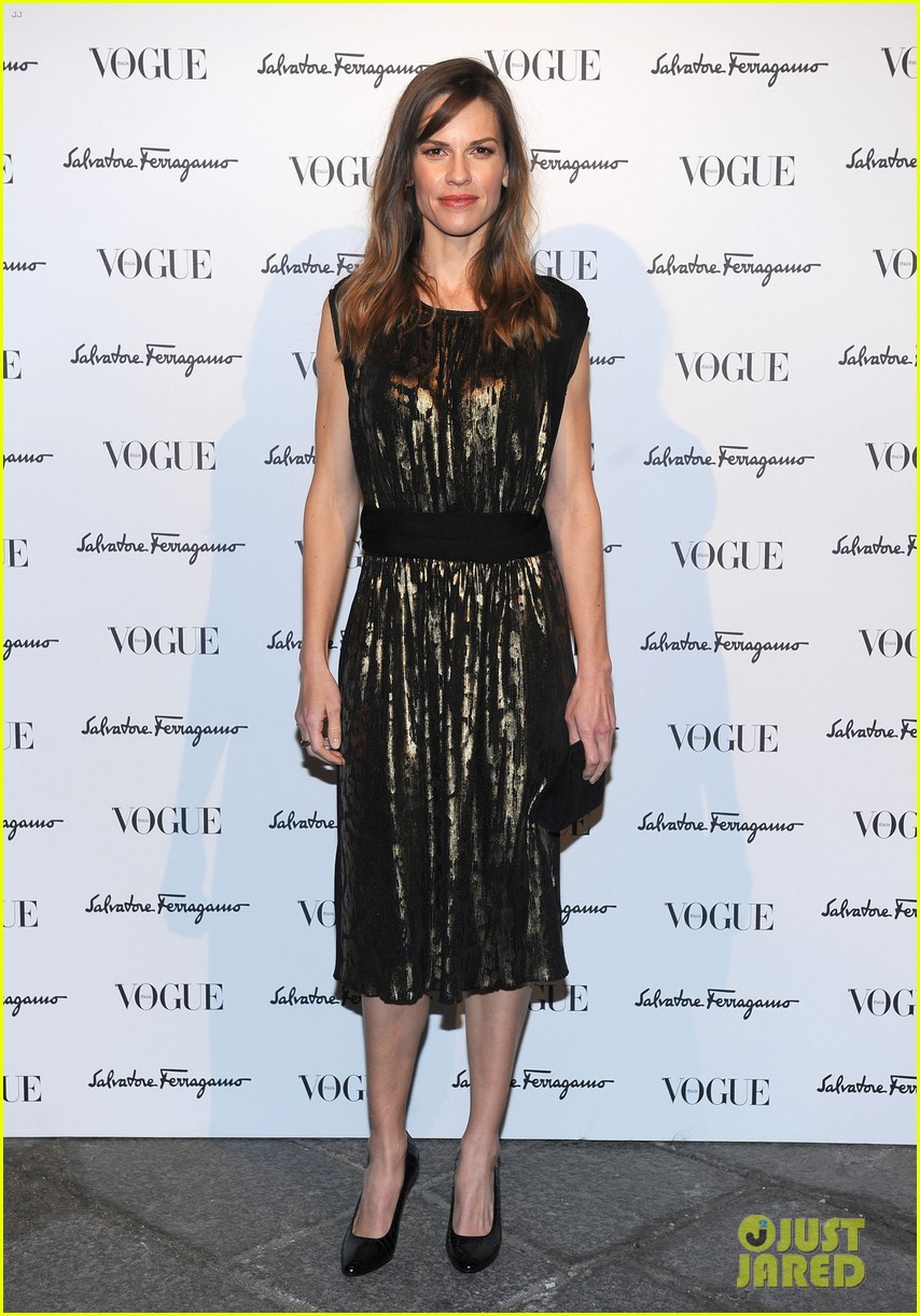 hilary swank switches up her look for ferragamo after party 01