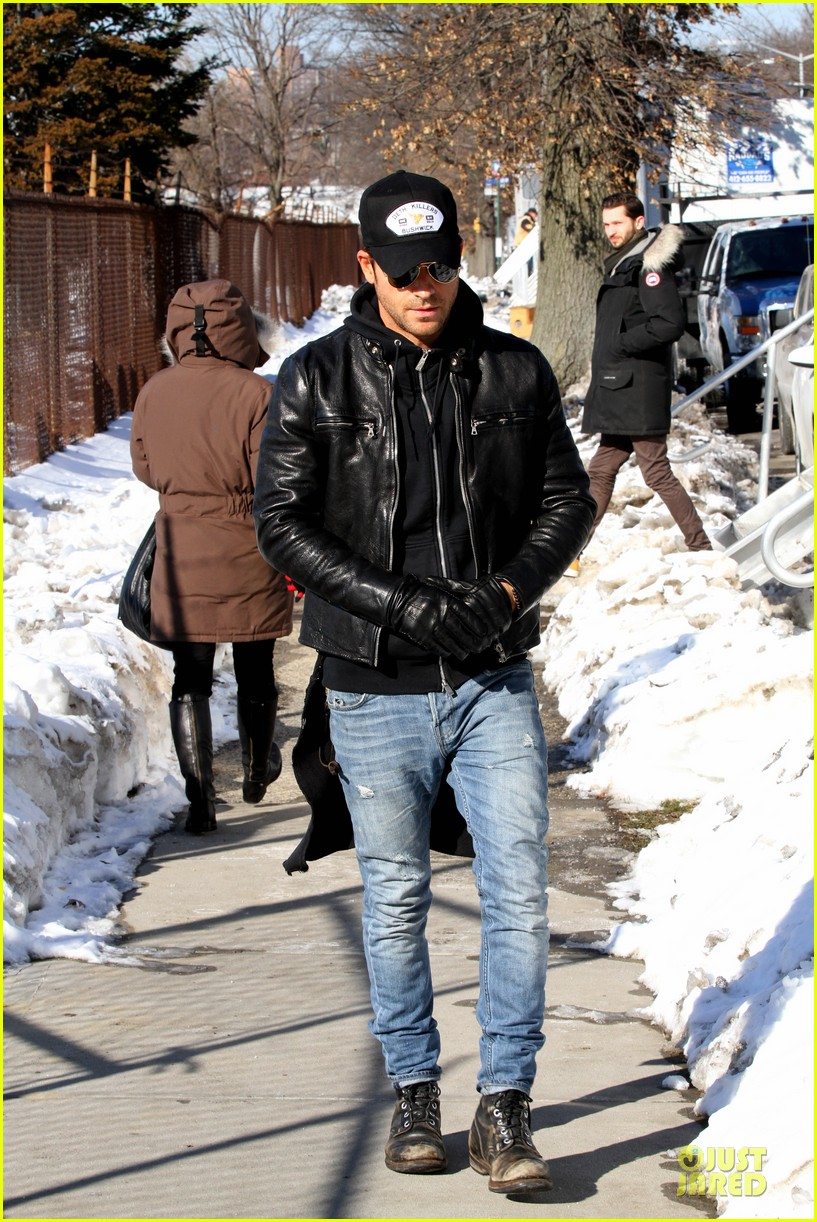 justin theroux films the leftovers on jennifer aniston 45th birthday 09